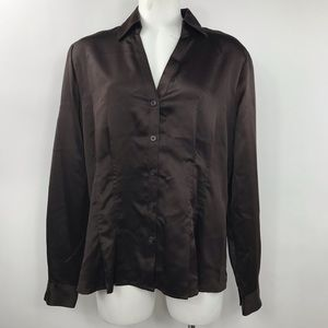 NWT Women's East5th Size L Polyester Button Blouse